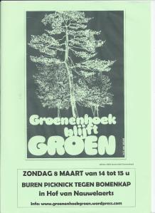Affiche actie bomenkap in 't groen