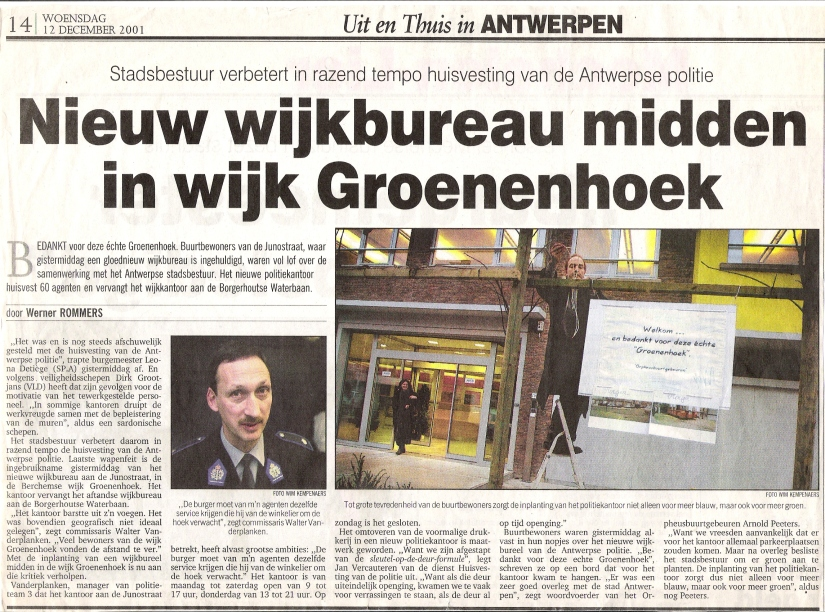 Nieuw wijkkantoor voor Groenenhoek