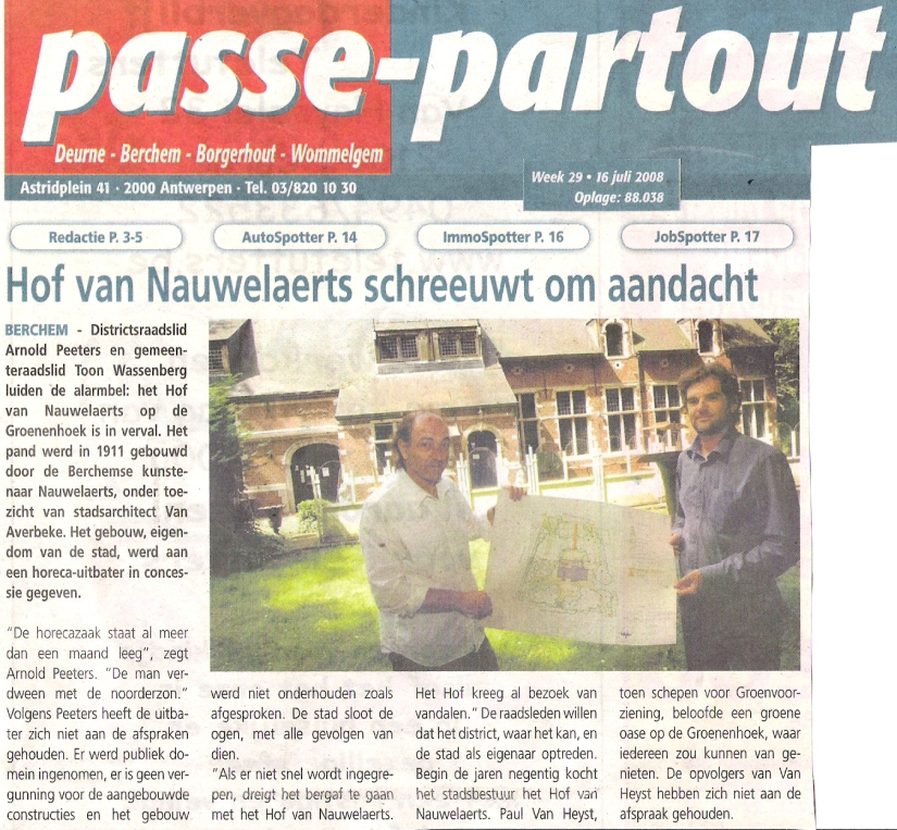 Passe-Partout Hof van Nauwelaerts 2008